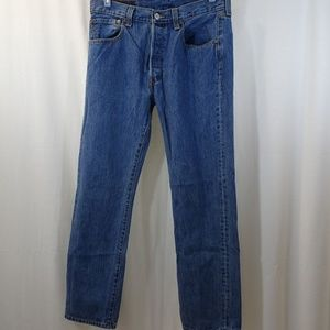 Levis 501 Jeans Button Fly Size 33x32 Straight Fit